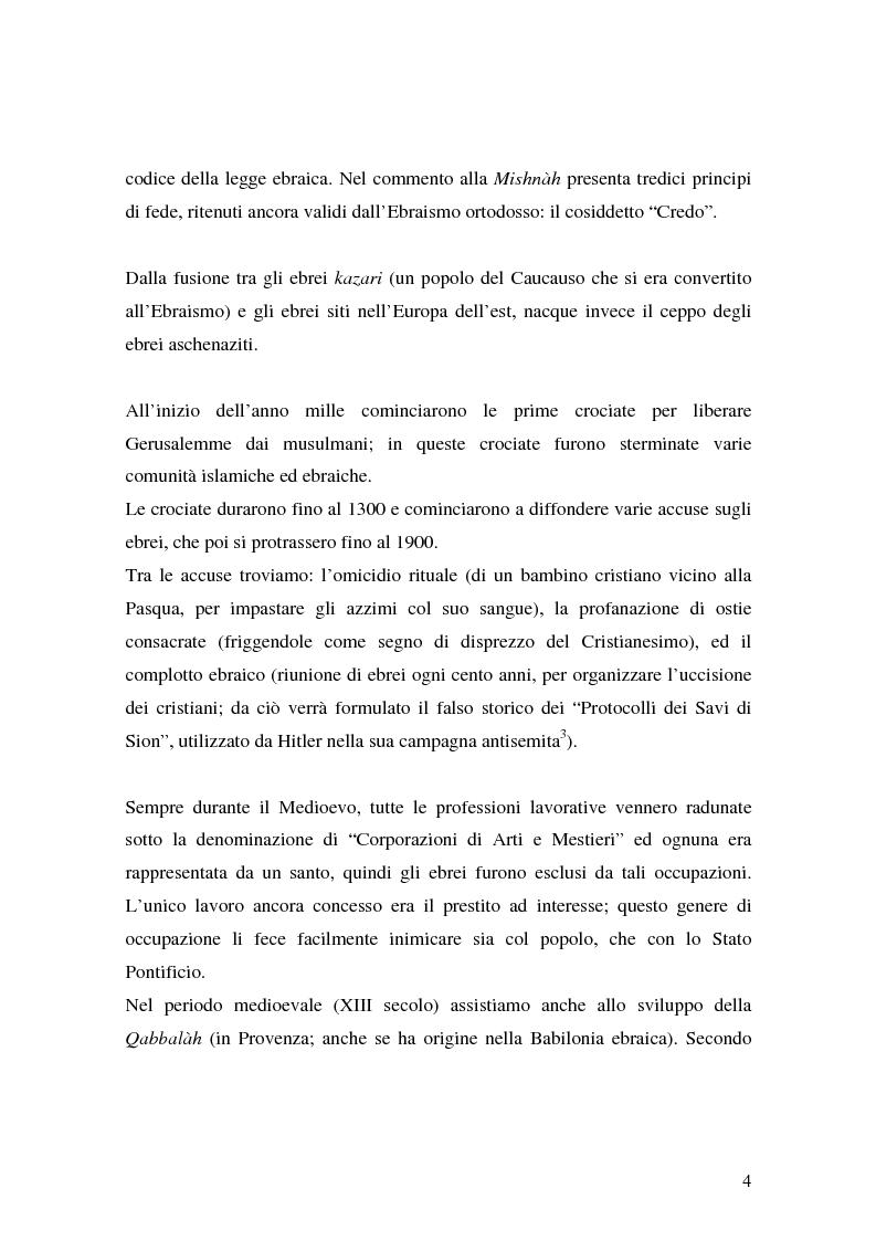 Anteprima della tesi: L'identità ebraica laica. Un confronto tra la prospettiva italiana e quella statunitense, Pagina 7