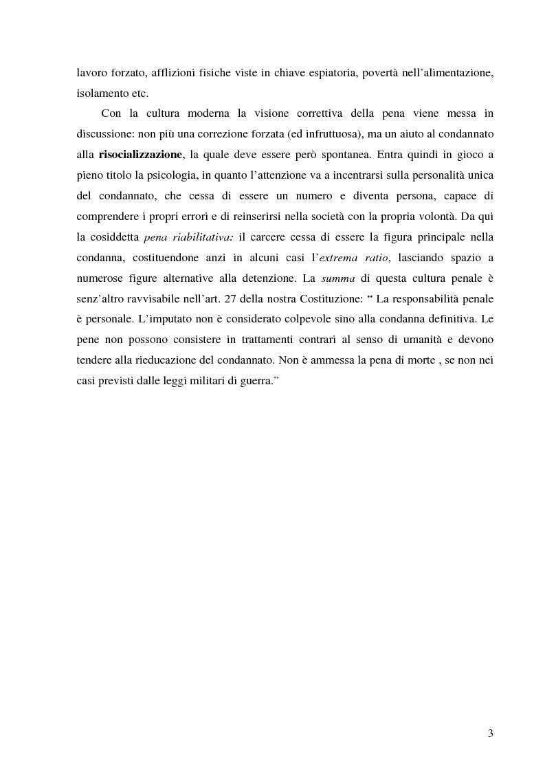 Anteprima della tesi: Pena Riabilitativa e Forze dell'Ordine, Pagina 2
