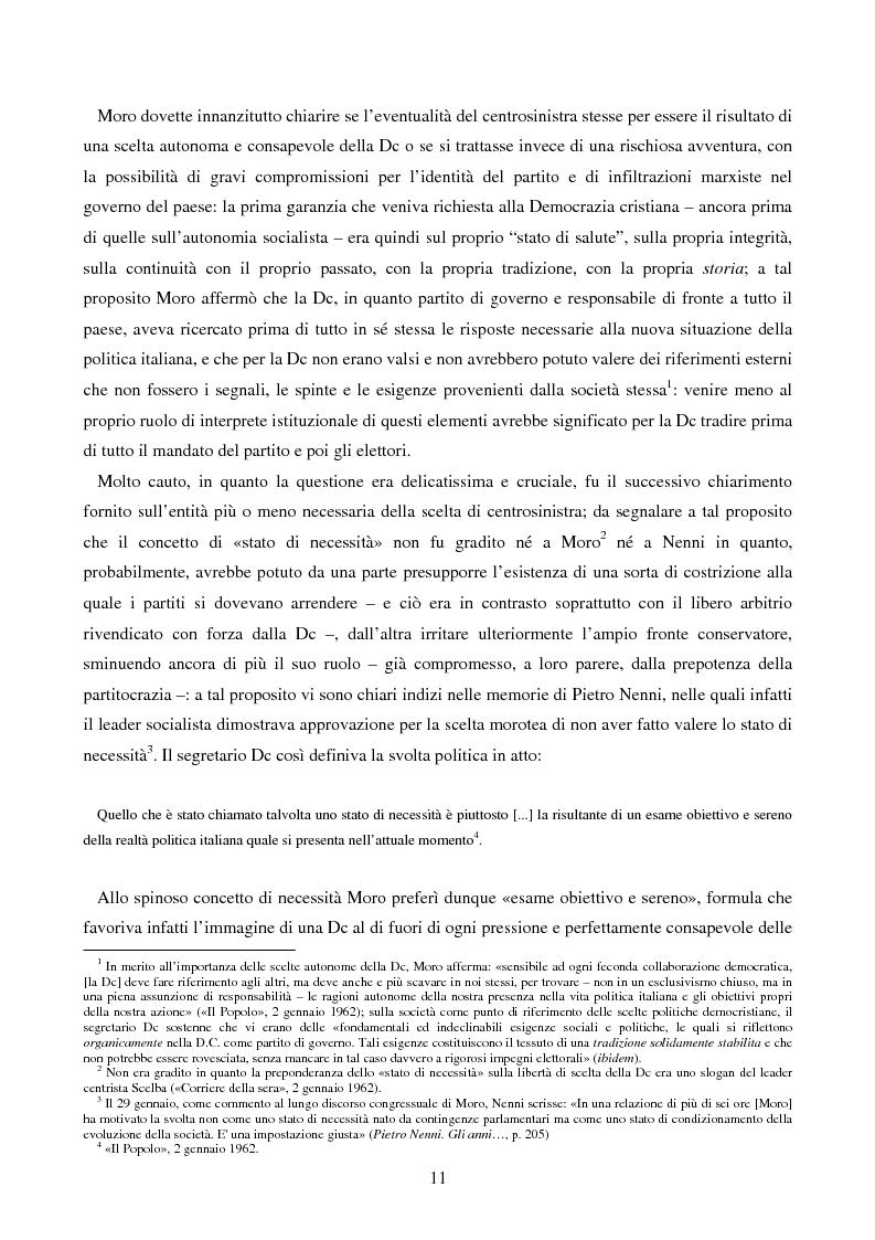 Anteprima della tesi: Il primo centrosinistra. Gennaio 1962 - febbraio 1963, Pagina 14