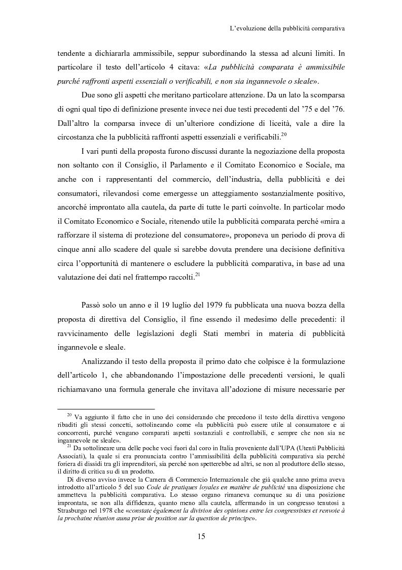 Anteprima della tesi: La pubblicità comparativa, Pagina 14