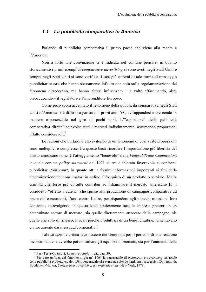 Anteprima della tesi: La pubblicità comparativa, Pagina 8