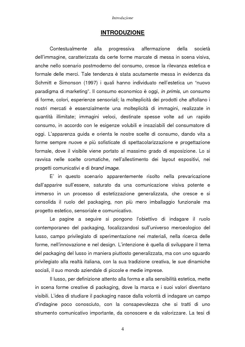 Anteprima della tesi: Il packaging del lusso: design e strategie comunicative. Il caso Baldoria., Pagina 1