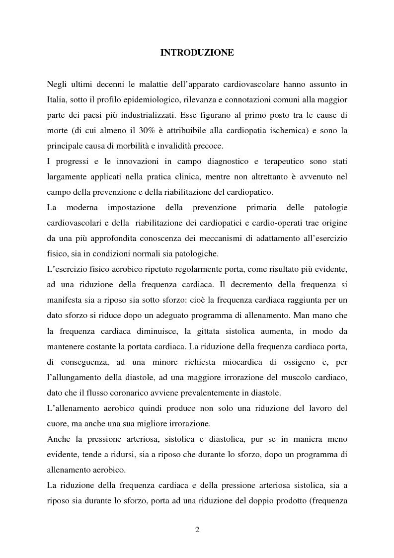 Anteprima della tesi: Valutazione della funzionalità respiratoria mediante test di cammino a carico costante, Pagina 1