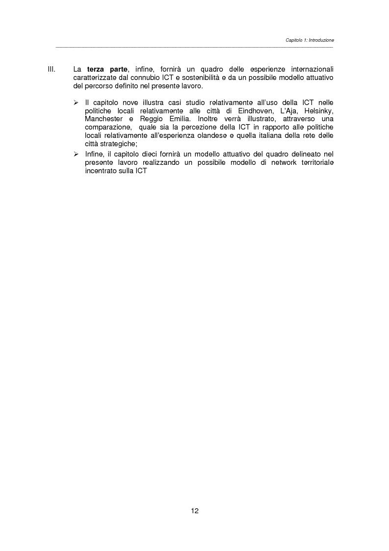 Anteprima della tesi: Information Communication Technology per un progetto urbano sostenibile, Pagina 10