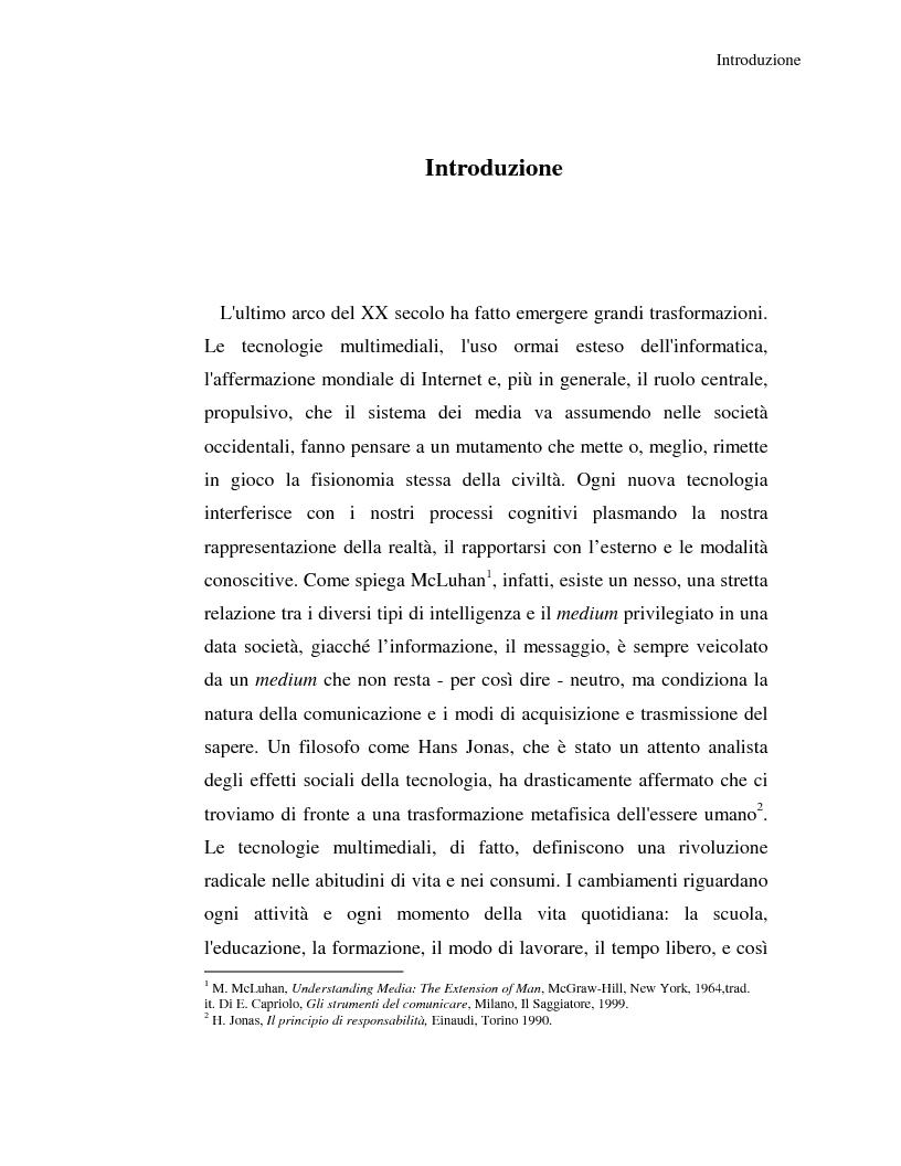 Anteprima della tesi: Rappresentazioni, concetti, immagini: dall'Homo Sapiens all'Homo Videns, Pagina 1