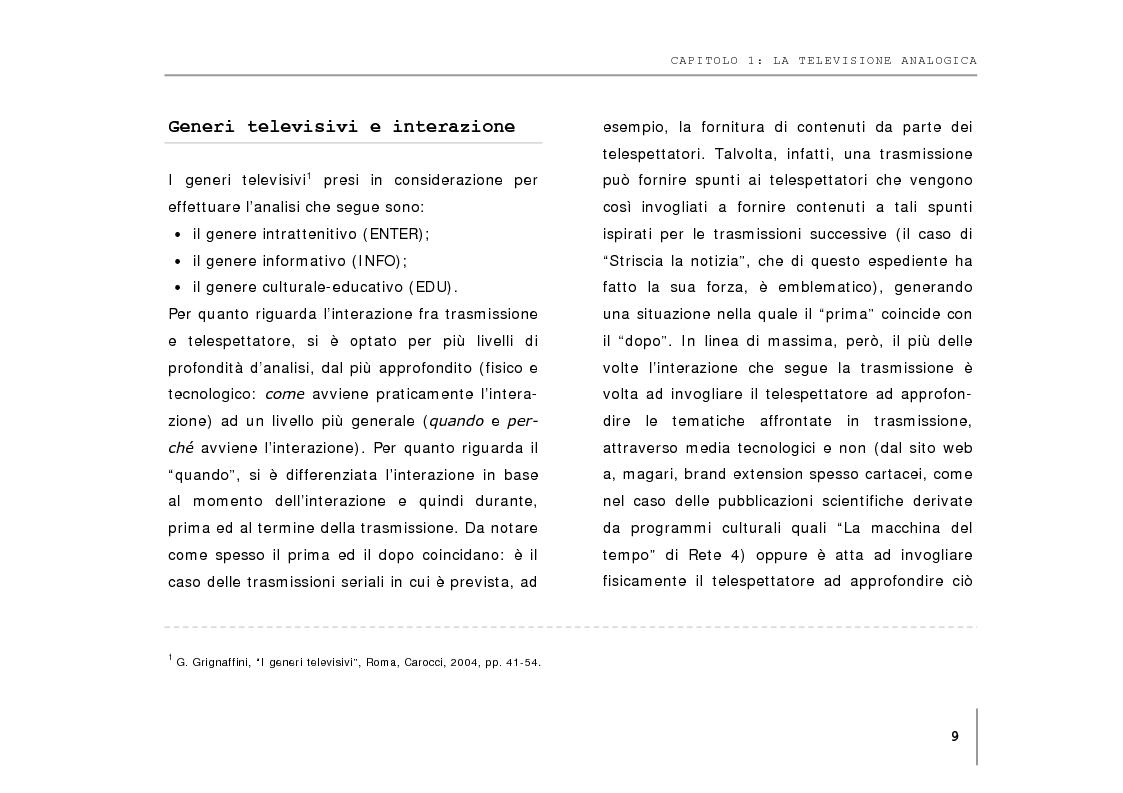 Anteprima della tesi: DTT: contenuti interattivi ed evoluzione del broadcasting tradizionale., Pagina 7