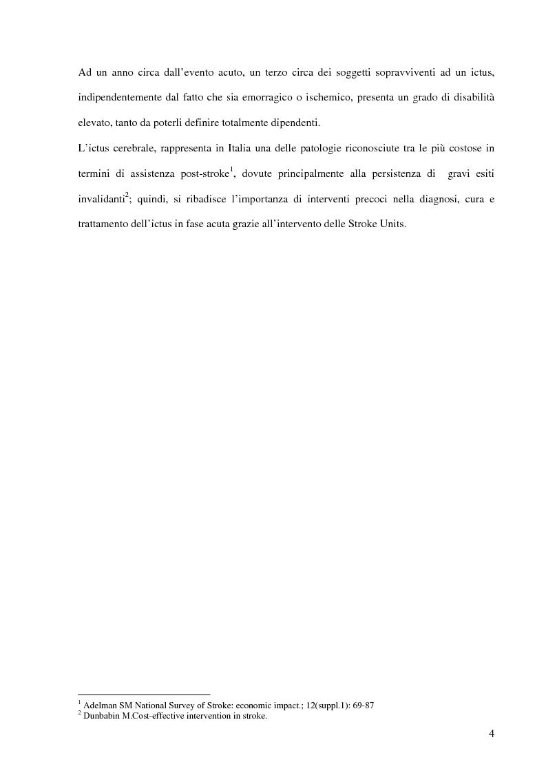 Anteprima della tesi: Ruolo del fisioterapista nella stroke unit, Pagina 2