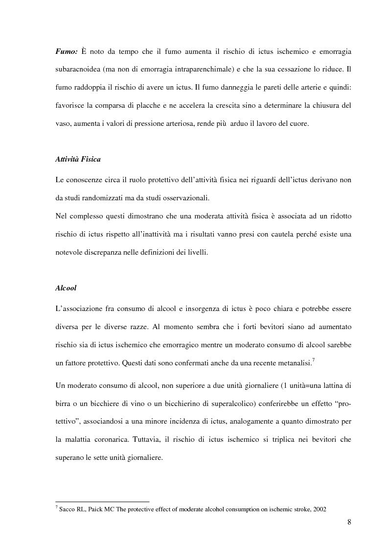 Anteprima della tesi: Ruolo del fisioterapista nella stroke unit, Pagina 6
