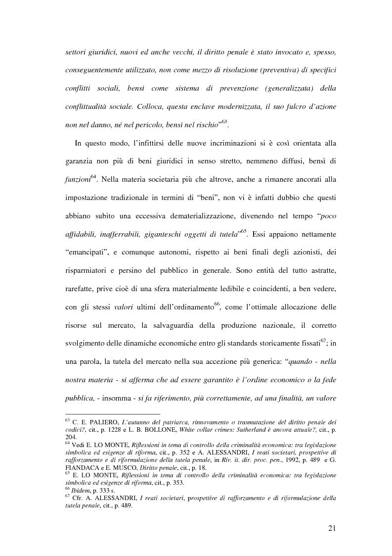 Anteprima della tesi: Il falso in bilancio. Il bene giuridico e la struttura del tipo., Pagina 15