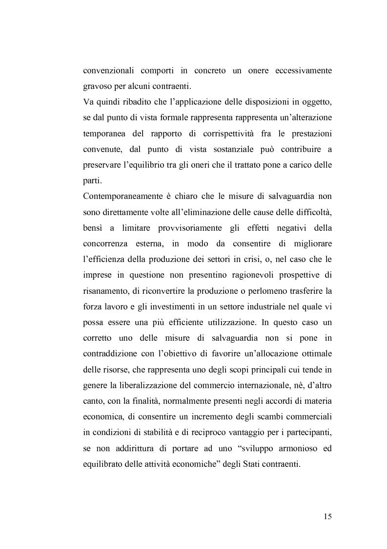 Anteprima della tesi: Le misure di salvaguardia ed il libero scambio di beni: il caso Cina., Pagina 9