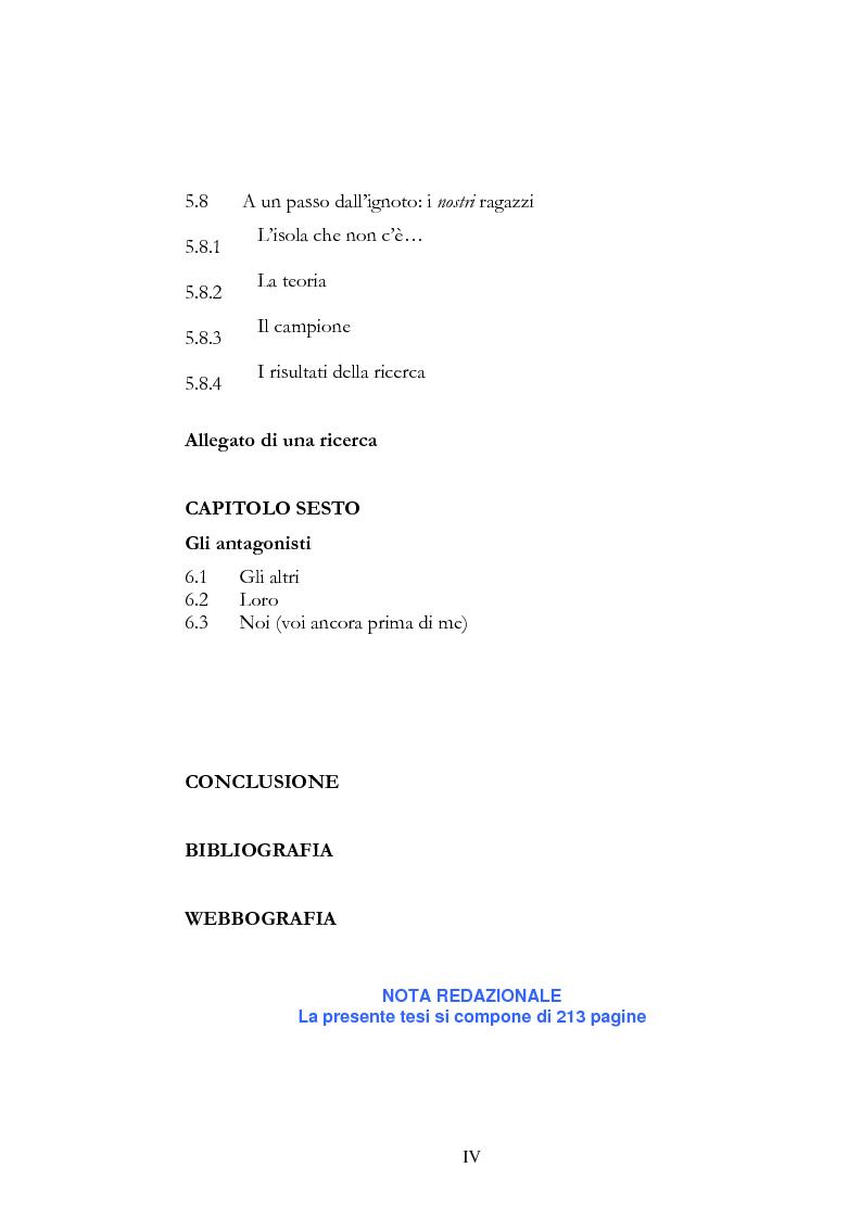 Indice della tesi: HIP HOP dialogo interculturale tra generazioni, Pagina 3