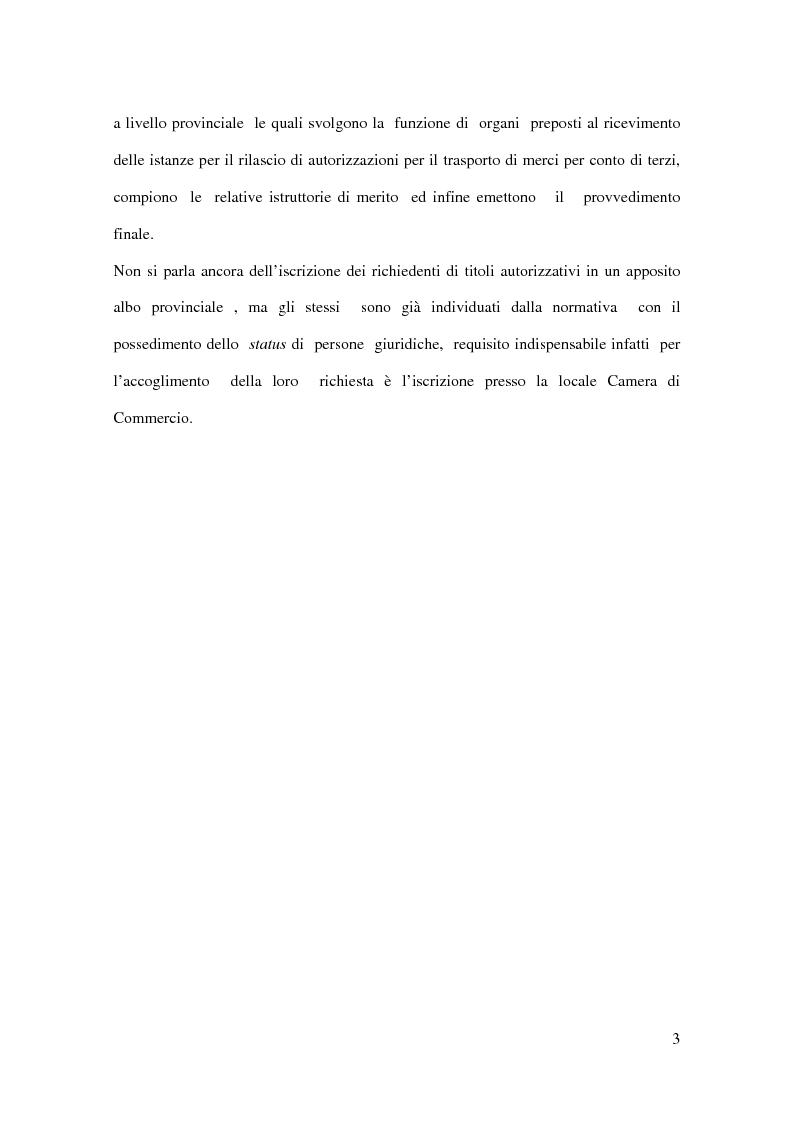 Anteprima della tesi: La liberalizzazione dell'autotrasporto di merci per conto di terzi, Pagina 3