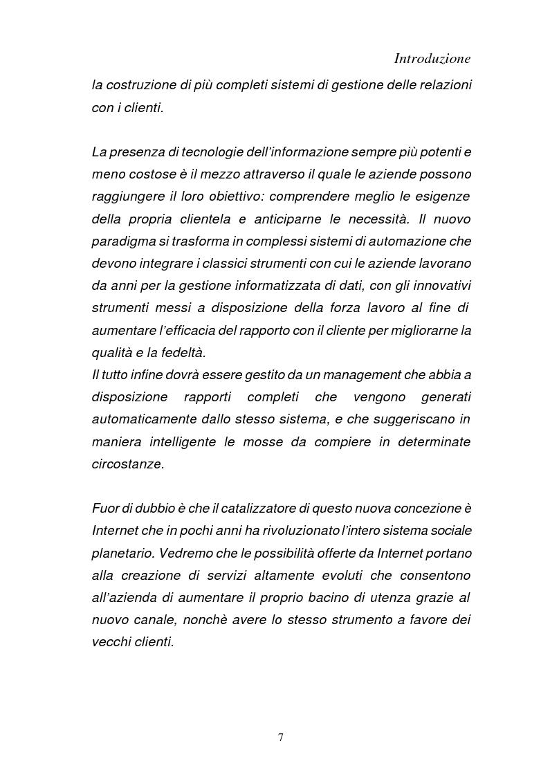 Anteprima della tesi: Dal CRM all' E-CRM : progettazione web based di sistemi per la gestione delle relazioni col cliente., Pagina 2