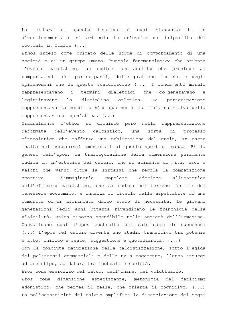 Anteprima della tesi: Evento calcistico, rappresentazioni simboliche, processi di identificazione. Il caso dell Modena f.c. 1912., Pagina 14
