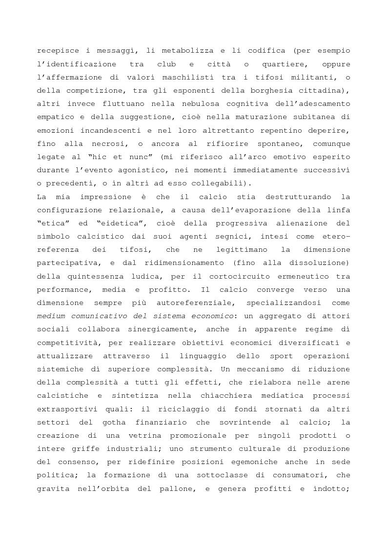 Anteprima della tesi: Evento calcistico, rappresentazioni simboliche, processi di identificazione. Il caso dell Modena f.c. 1912., Pagina 9