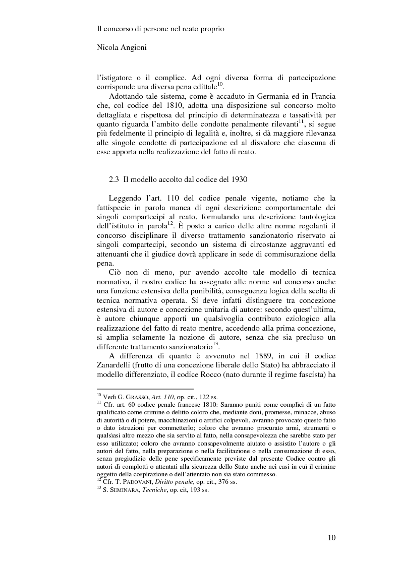 Anteprima della tesi: Il concorso di persone nel reato proprio, Pagina 7