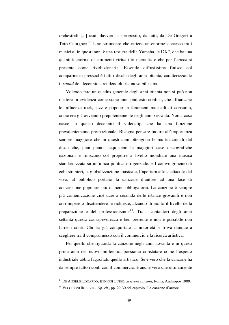 Anteprima della tesi: Poetiche del ritmo. Il rapporto tra musica e parole nella canzone italiana d'autore, Pagina 12