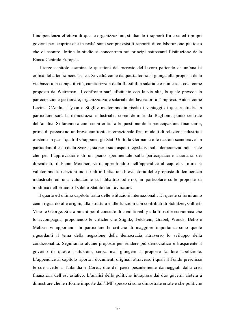 Anteprima della tesi: Modelli di Mercato e Democrazia, Pagina 8