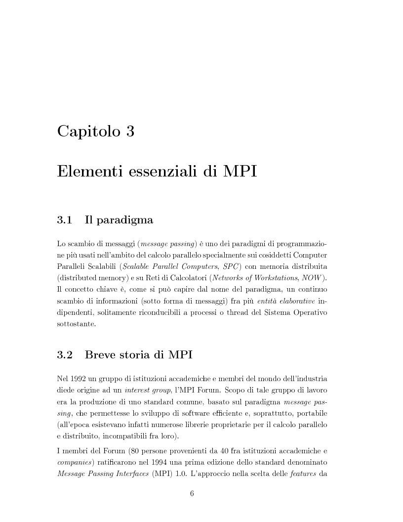"""Anteprima della tesi: Sviluppo di algoritmi paralleli per l'analisi di """"storie"""" simulative, Pagina 8"""