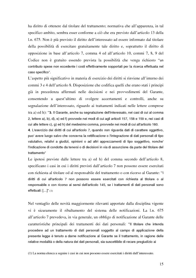 Anteprima della tesi: Tutela della privacy ed attività giornalistica in Italia e Gran Bretagna, Pagina 15
