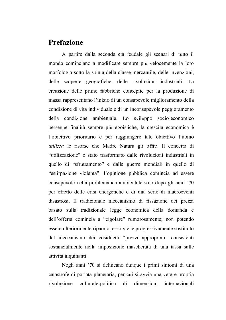 Anteprima della tesi: Il sistema di gestione dei rifiuti negli ambiti territoriali delle provincie di Terni e Viterbo, Pagina 1