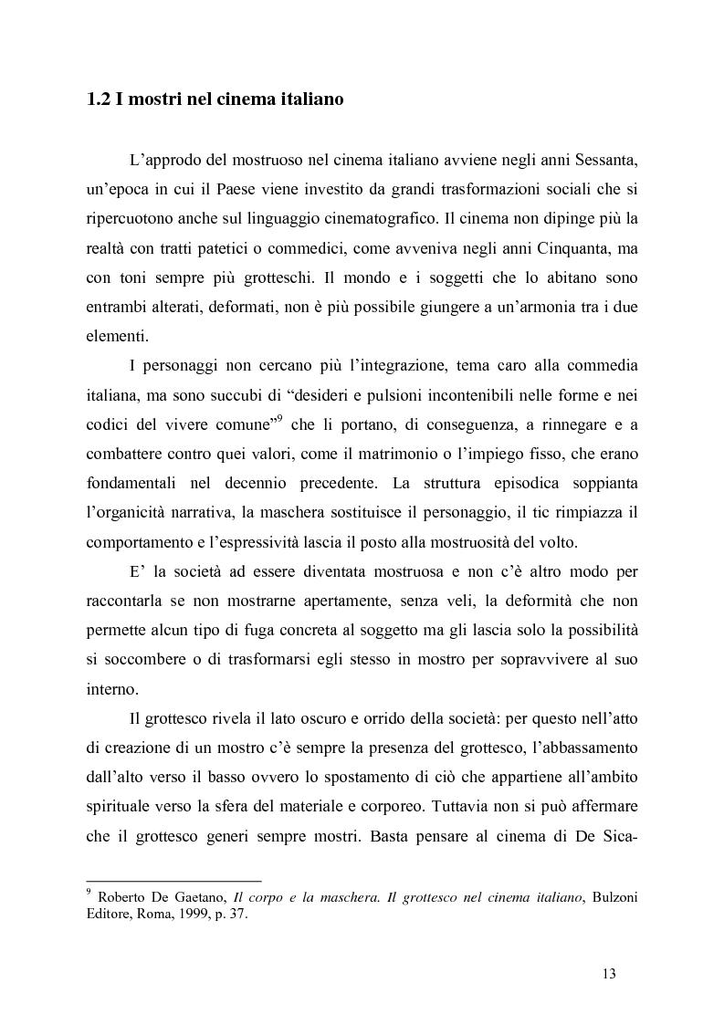 Anteprima della tesi: Processi di teratologizzazione del personaggio nel cinema di Nanni Moretti, Pagina 13