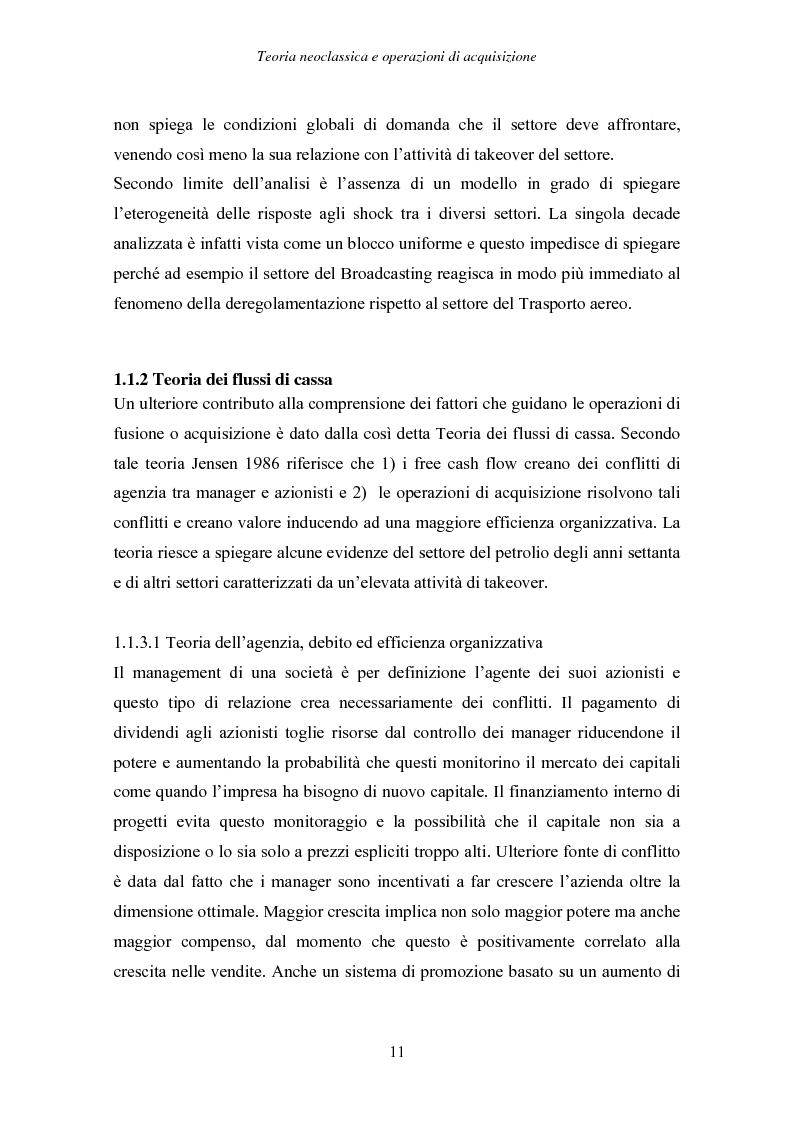 Anteprima della tesi: Behavioural Corporate Finance e Operazioni di Acquisizione - evidenze nel mercato italiano, Pagina 11