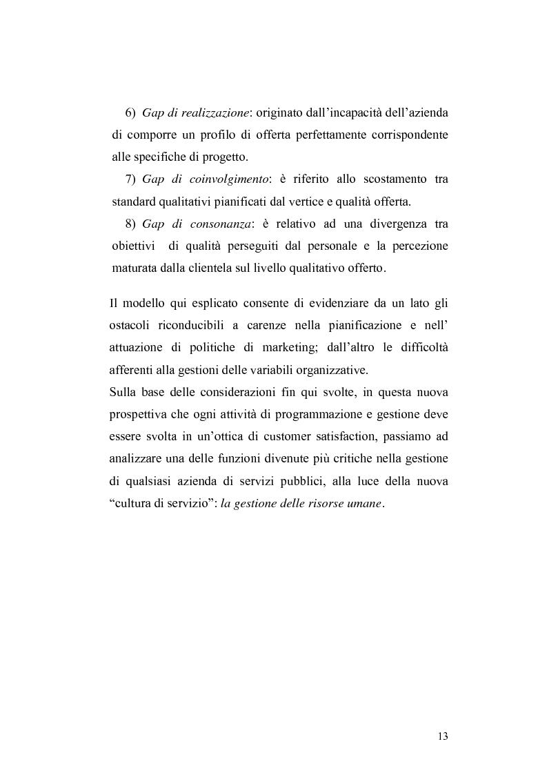 Anteprima della tesi: Customer satisfaction, qualità, valutazione del personale, Pagina 6