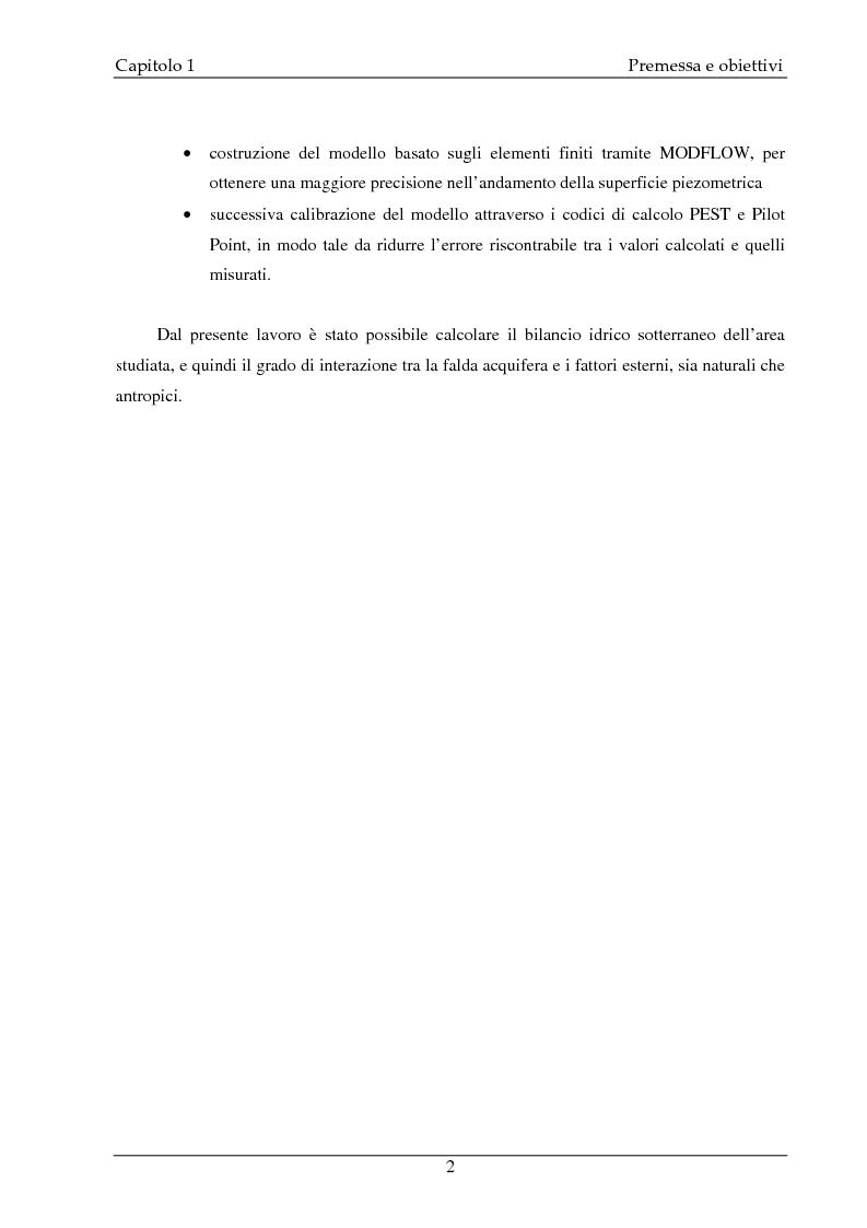 Anteprima della tesi: Studio idrogeologico del settore meridionale di Pianura Pavese compreso tra i fiumi Ticino e Lambro con l'applicazione dei modelli numerici ModAEM e MODFLOW, Pagina 2