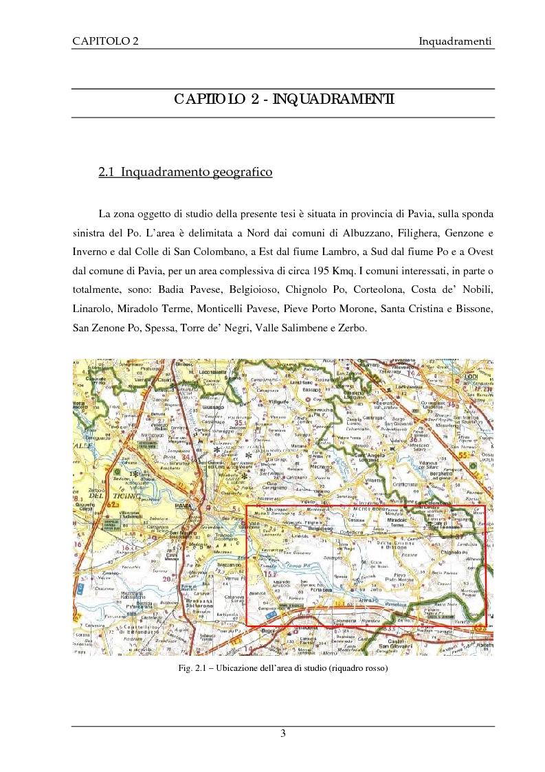 Anteprima della tesi: Studio idrogeologico del settore meridionale di Pianura Pavese compreso tra i fiumi Ticino e Lambro con l'applicazione dei modelli numerici ModAEM e MODFLOW, Pagina 3