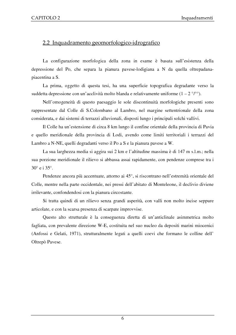 Anteprima della tesi: Studio idrogeologico del settore meridionale di Pianura Pavese compreso tra i fiumi Ticino e Lambro con l'applicazione dei modelli numerici ModAEM e MODFLOW, Pagina 6