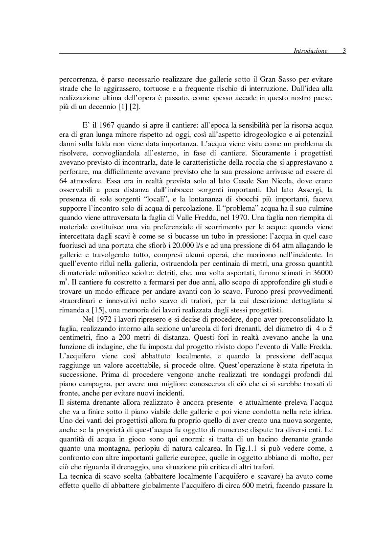 Anteprima della tesi: Interazione tra il massiccio carbonatico del Gran Sasso d'Italia e le opere in sotterraneo presenti e future, Pagina 6