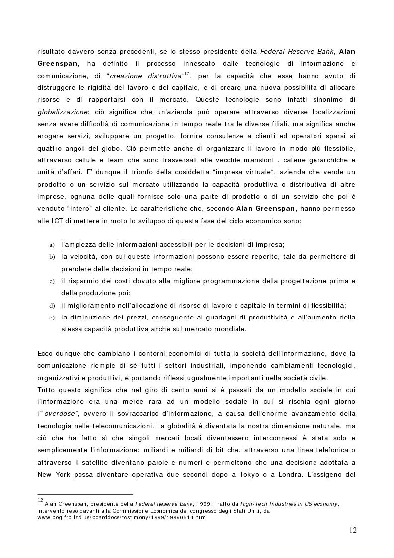 Anteprima della tesi: Economia e notizie: dal boom economico al declino. L'evoluzione della notizia economica nel giornalismo italiano., Pagina 12