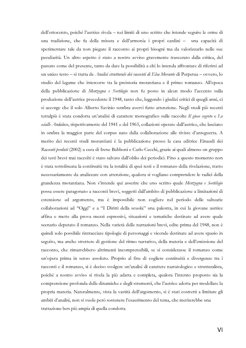 Anteprima della tesi: La narratologia di Elsa Morante dai racconti a ''Menzogna e Sortilegio'', Pagina 4