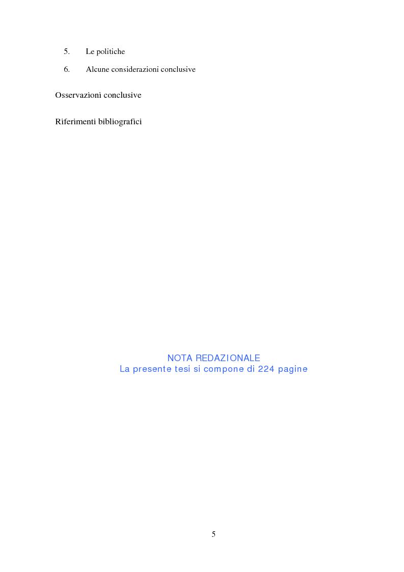 Indice della tesi: Agro-industria e sviluppo locale, Pagina 4