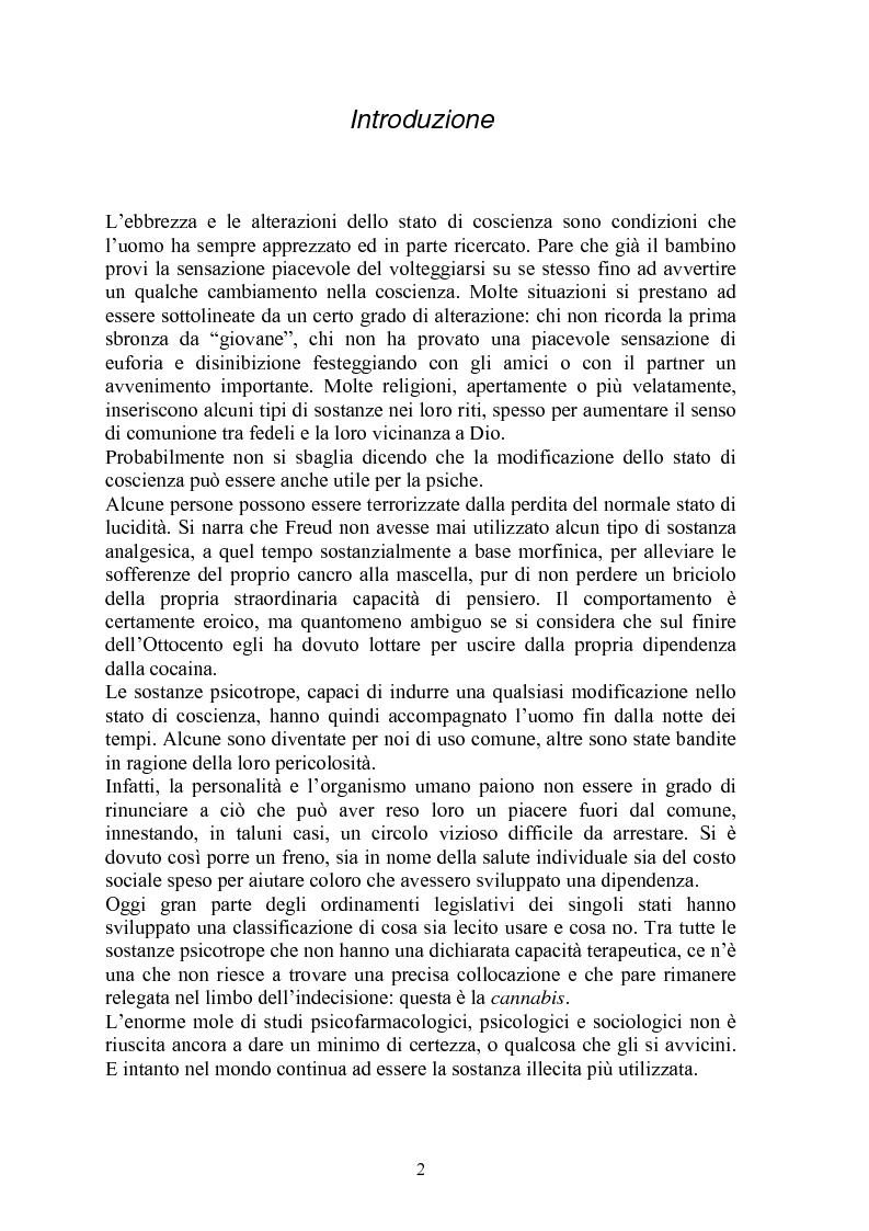 Anteprima della tesi: La cannabis e la giustizia. Breve digressione sul proibizionismo., Pagina 1