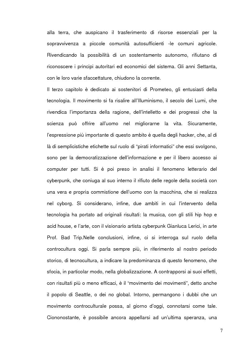 Anteprima della tesi: Da Prometeo, dio hacker, alla nascita delle controculture. Il furto del fuoco come metafora della tecnologia, Pagina 5