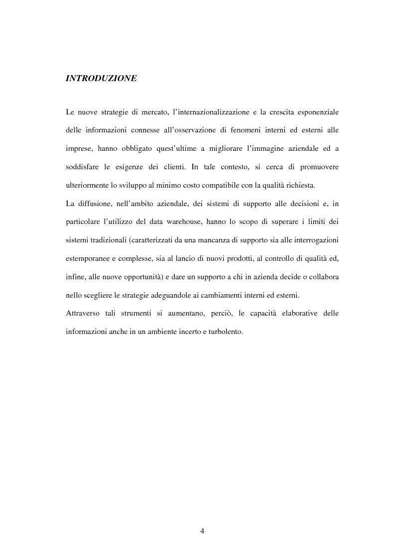 Anteprima della tesi: Il datawarehouse a supporto del marketing bancario, Pagina 1