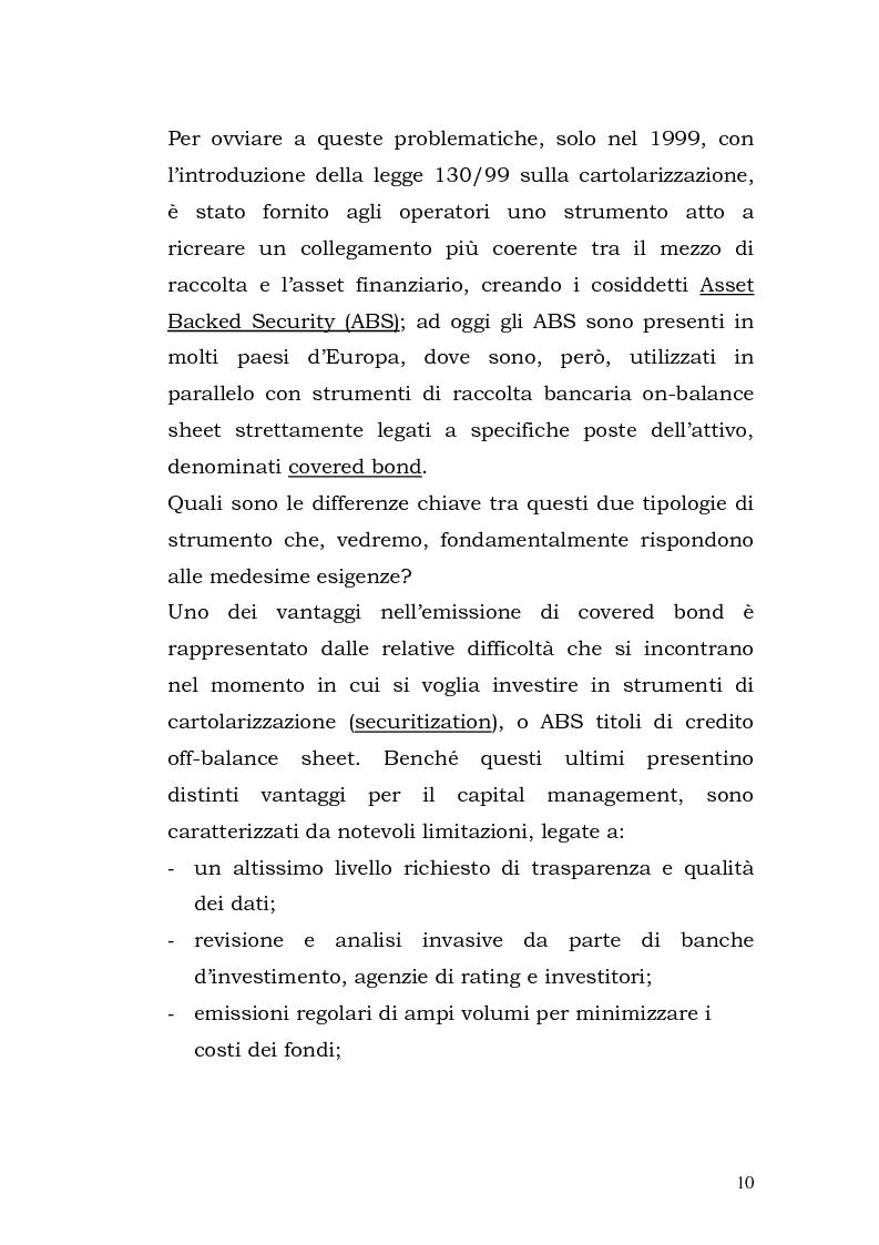 Anteprima della tesi: I Covered Bond in Europa e l'esperienza italiana, Pagina 2