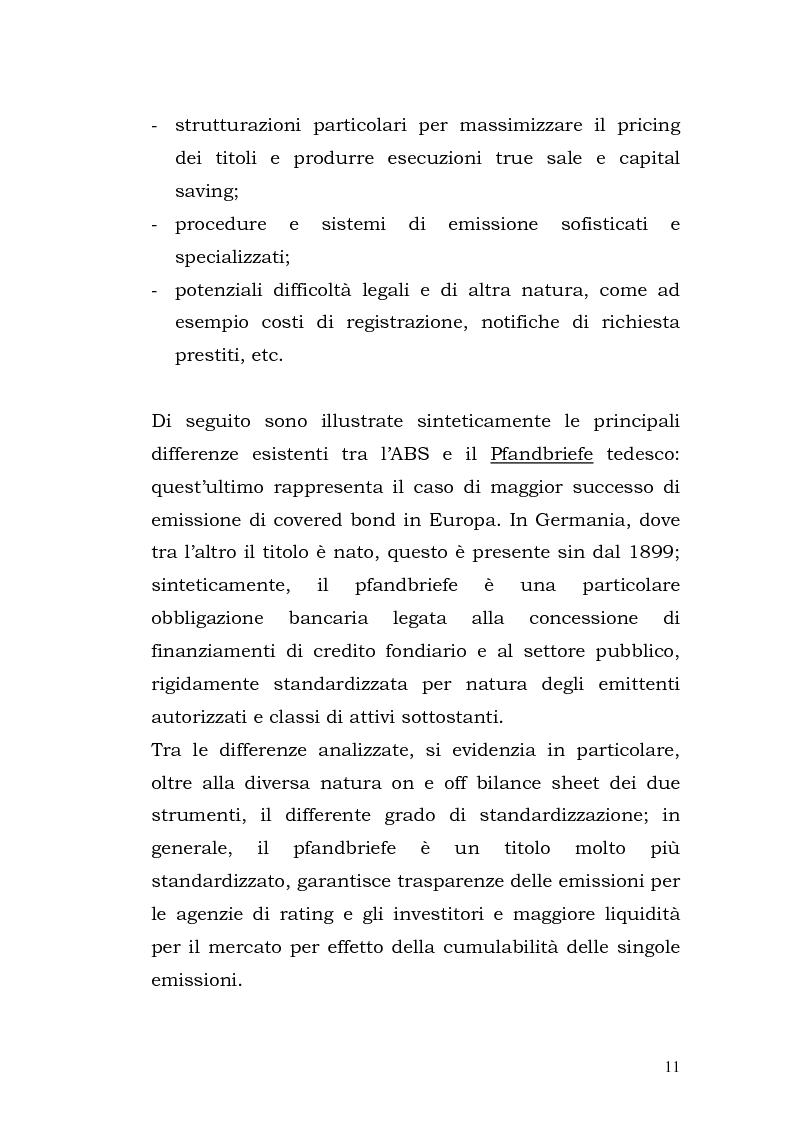 Anteprima della tesi: I Covered Bond in Europa e l'esperienza italiana, Pagina 3