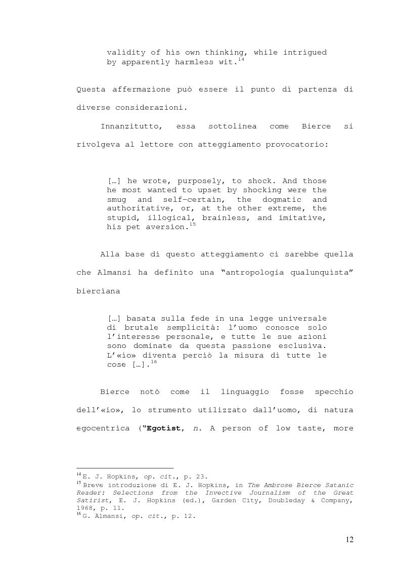 Anteprima della tesi: Wit and Humor : Ambrose Bierce e Oscar Wilde, Pagina 12