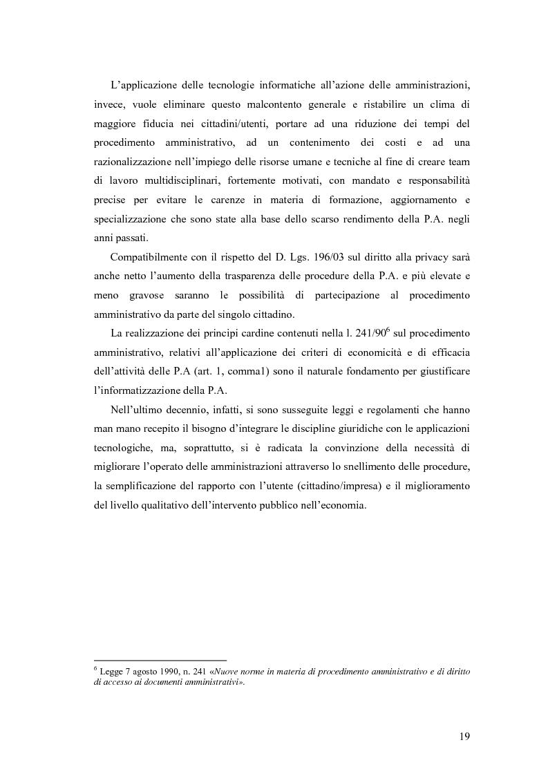 Anteprima della tesi: La trasformazione e la modernizzazione della Pubblica Amministrazione tramite le tecnologie dell'informazione e della comunicazione, Pagina 14