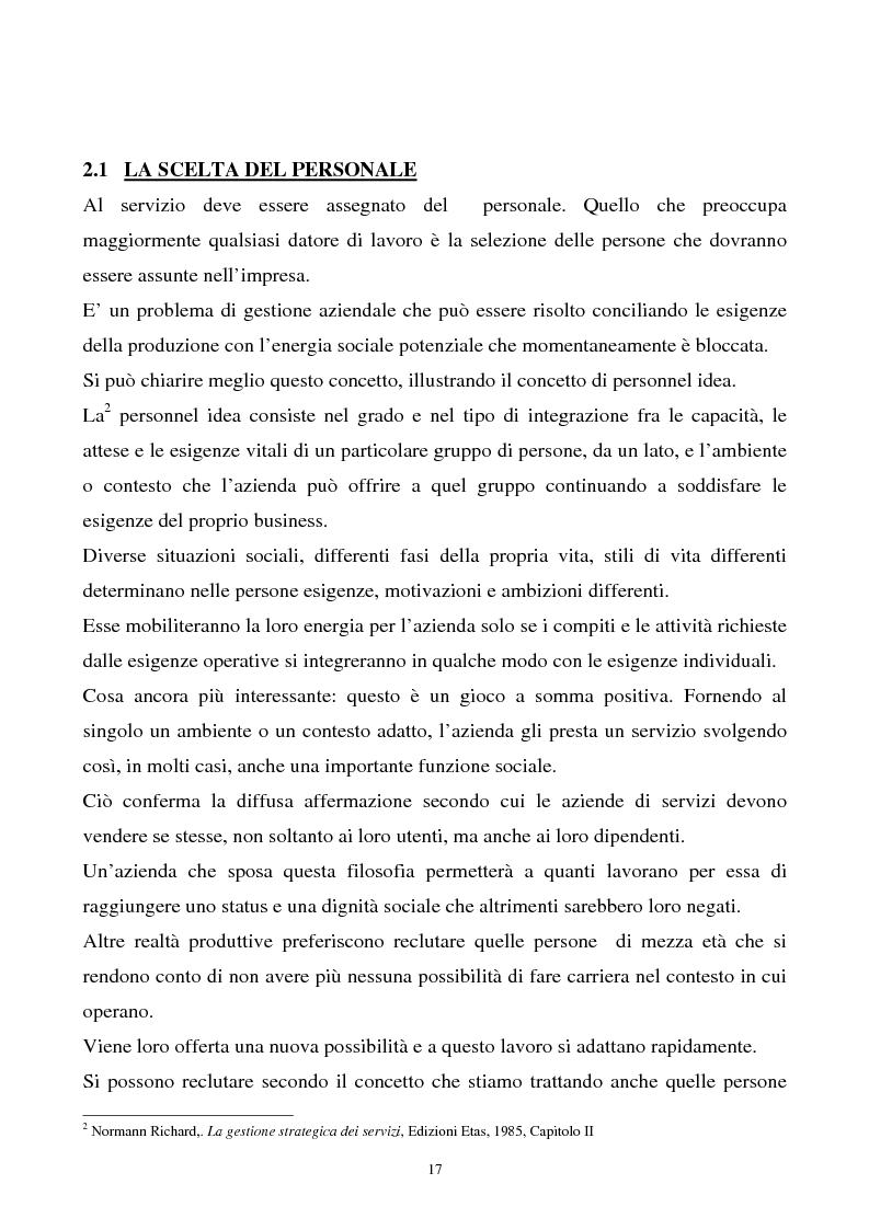 Anteprima della tesi: Aspetti teorici e riflessioni sull'organizzazione di servizi, Pagina 12