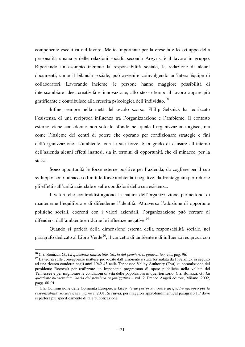 Anteprima della tesi: La valorizzazione degli stakeholders attraverso il bilancio sociale: il caso della Croce Verde di Castelfidardo ONLUS, Pagina 13