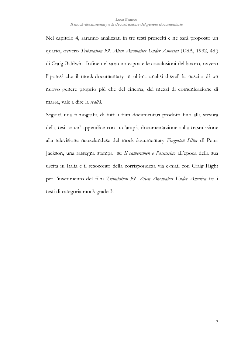 Anteprima della tesi: Il mock-documentary e la decostruzione del genere documentario, Pagina 4