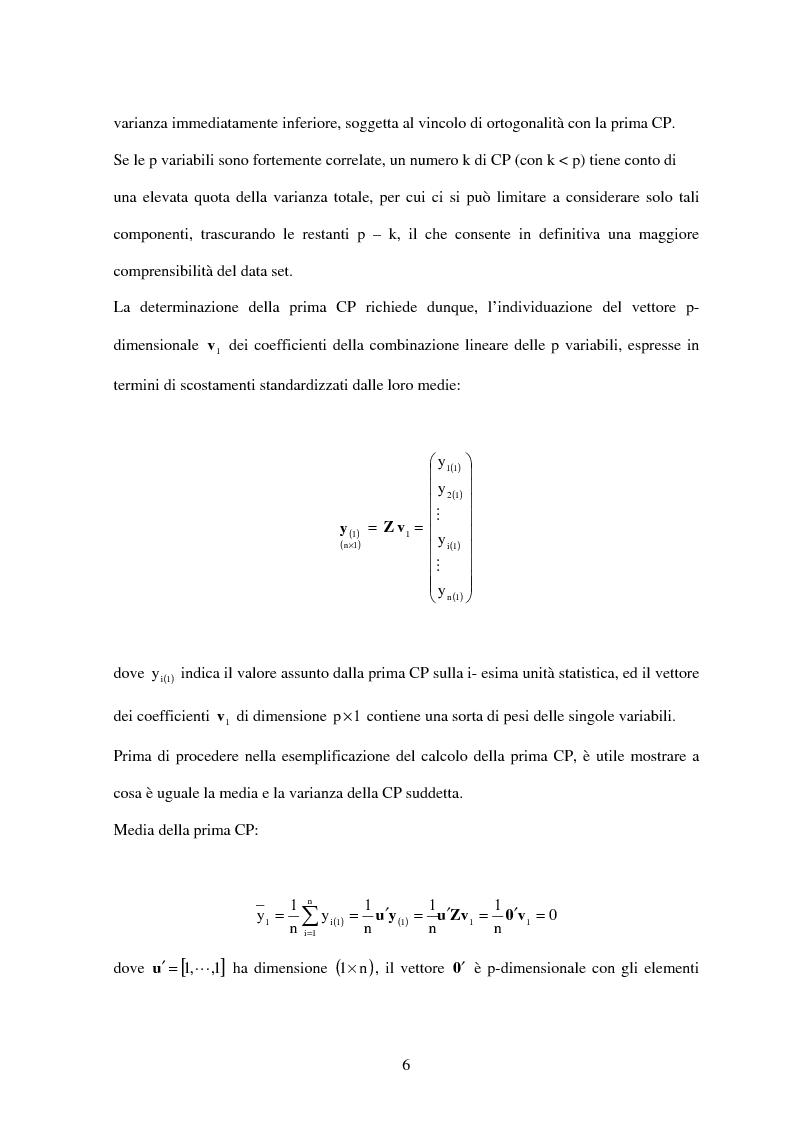 Anteprima della tesi: L'analisi delle componenti principali per descrivere lo stato di salute della popolazione italiana, Pagina 6