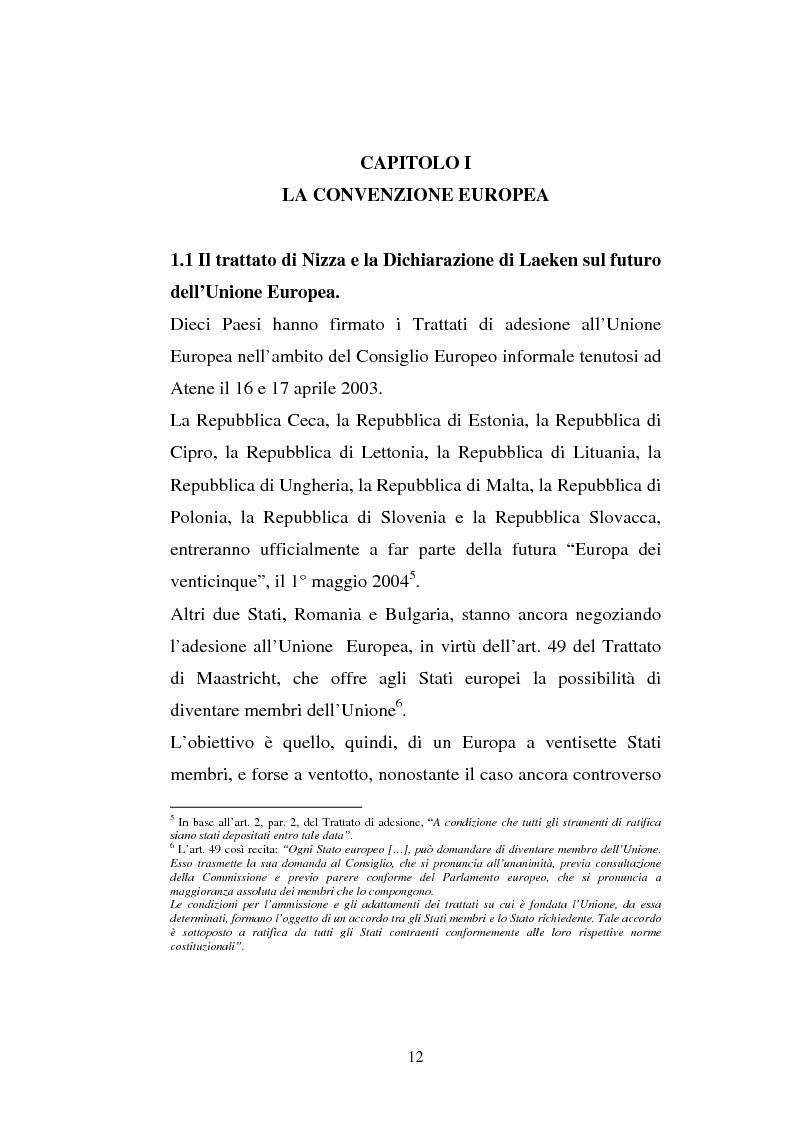Anteprima della tesi: La convenzione europea e il progetto di governance economica, Pagina 8