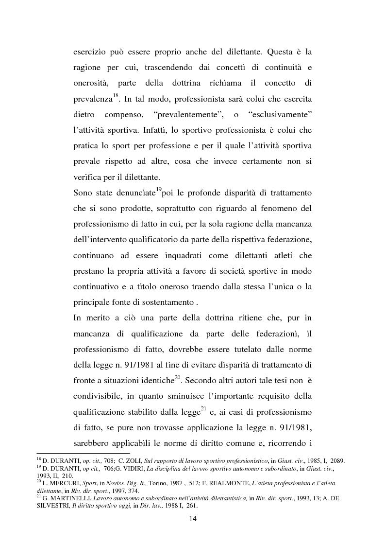 Anteprima della tesi: Il rapporto di lavoro del calciatore professionista, Pagina 11
