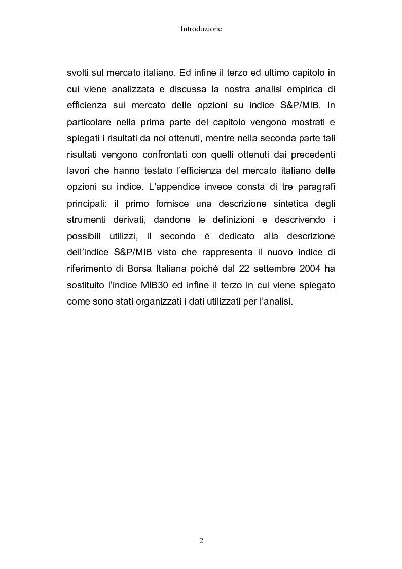 Anteprima della tesi: Opportunità di arbitraggio sulle S&P/MIB options, Pagina 2