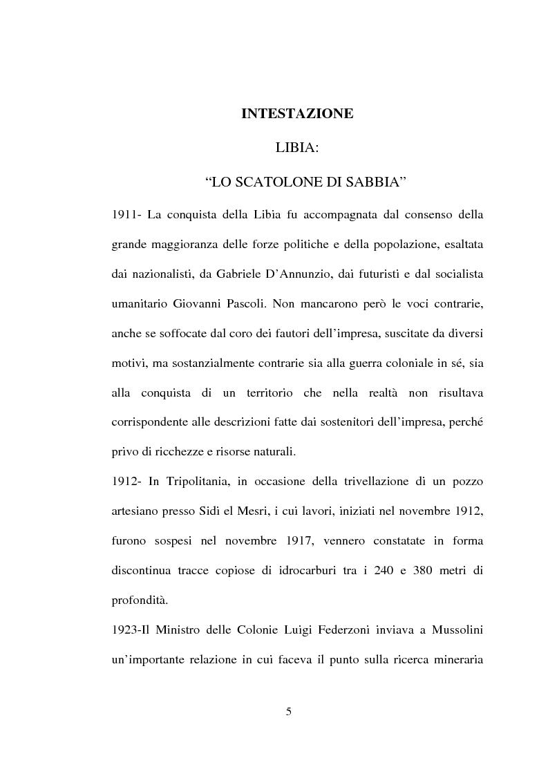 Anteprima della tesi: Libia: lo scatolone di sabbia, Pagina 1